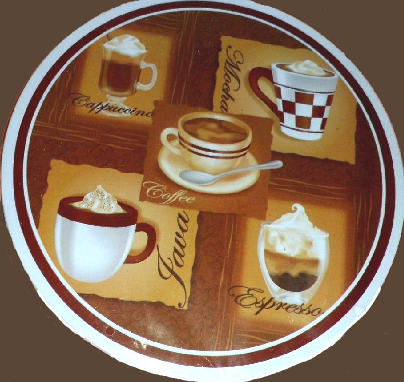 Coffee Themed Stove Metal Burner Covers