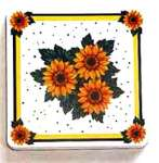 ~ Country Sunflower-Square   Metal Burner Covers