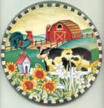 Cow Barn Round  Metal Farmhouse Burner Covers