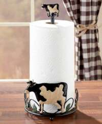 * Country Farmhouse Cows Towel Napkin Holder