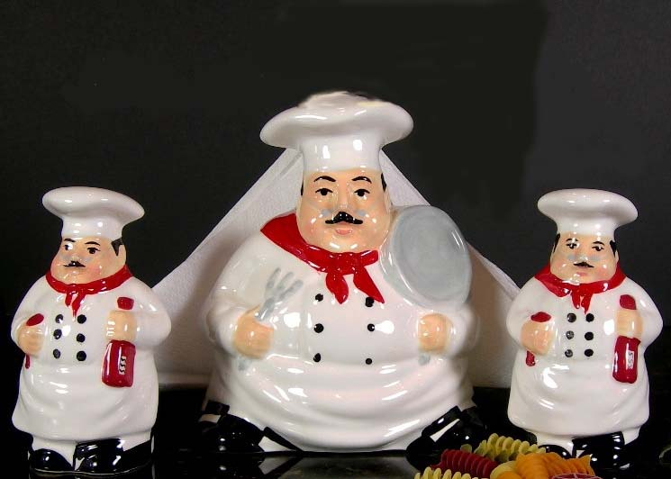 Ceramic Chef Kitchen Decor