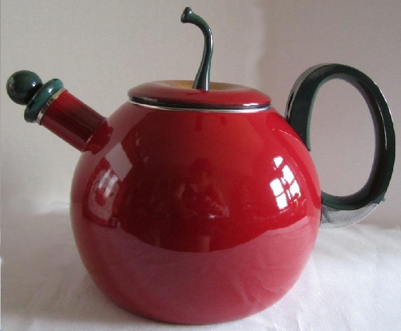 Novelty Tea Kettles ~ Enamel novelty tea kettle teapot sets coffee pots