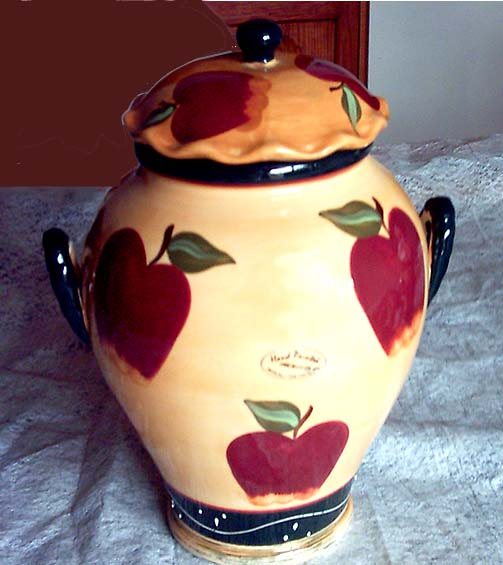 Country Apple Vintage Style Cookie Jar