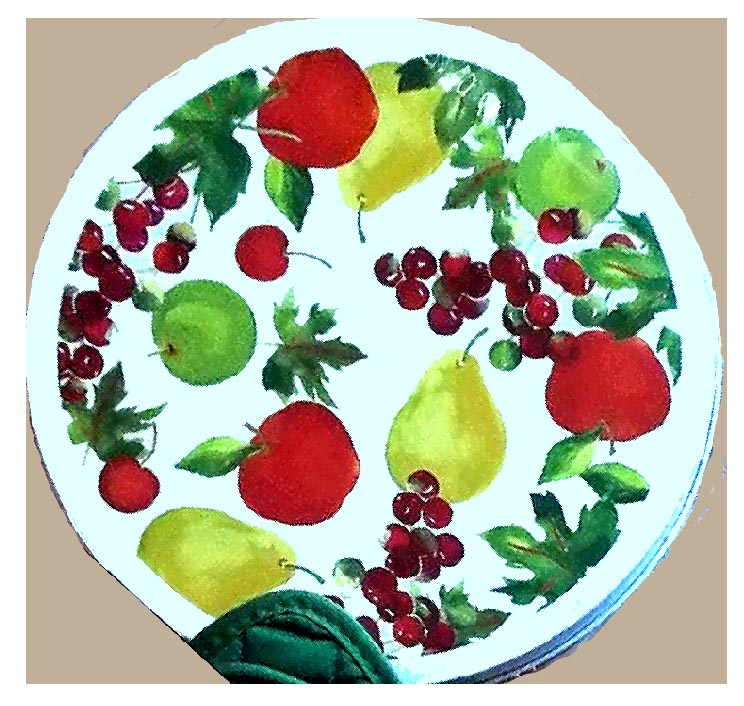 Fruit Apple Pear Grape Round Stove Burner Covers