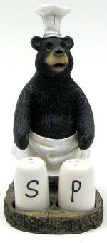 Cabin/Lodge Black Bear Chef Salt & Pepper Set