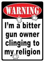 Tin Sign -  Bitter Gun Owner