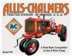Tin Sign Allis Chalmers - Model U