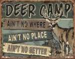 Cabin/Lodge Tin Sign - JQ - Deer Camp