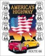 Tin Sign Americas Highway