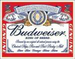 Tin Sign Budweiser - Label