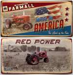 Farm Themed Farmall Tin Sign Set of 2