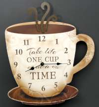 Coffee Clock Take Life One Cup at a Time