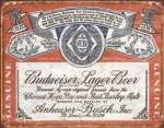 Tin Sign - Budweiser Historic Label