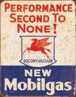 Tin Sign - Mobil Gas - 2nd to None