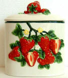 ~ Strawberry Ceramic Cookie jar