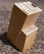 Empty Wood Knife Block Fits Rada Cutlery Sets