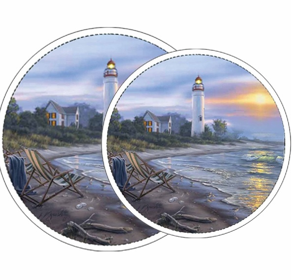 * Lighthouse Perfect Day Coastal Metal Burner Covers