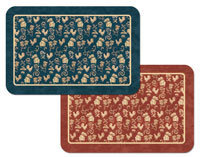 Country Luxe Rooster 4 Vinyl-Plastic Placemats