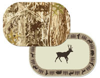 2 Placemats CLEARANCE!! Hunters Camo Lodge/Bear/Deer