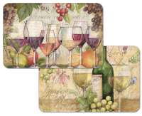 * 4 Grape Wine Plastic Placemats Wine Country