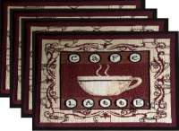 Cloth Fabric 4 Tapestry Placemats-Coffee Cafe