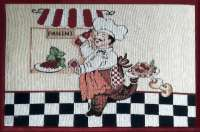 Cloth Fabric 4 Tapestry Placemats-Chef Panini