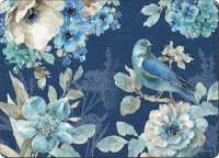 * 4 CorkBacked Hardboard Table-Placemats Indigold Bluebirds