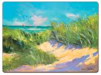 * 4 CorkBacked Hardboard Placemats Coastal Path to the Beach