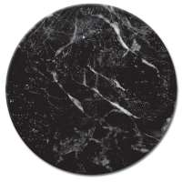 Black Marble LazySusan Turntables - Tempered Glass