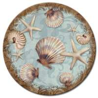 A Coastal/Beach Glass LazySusan Turntables Coastal Charm