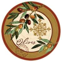 Glass Olive Themed LazySusan Turntables - Oliva