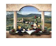 * A Tuscan Wine Country Grape Glass Cuttingboard Serving Tray