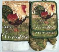 * 7pc Kitchen Towel Set -Farm Rooster
