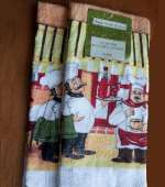 . Chef 3 Cotton Kitchen Towels .